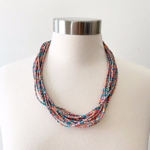 🍁Multi Strand Colorful Beaded Necklace Handmade